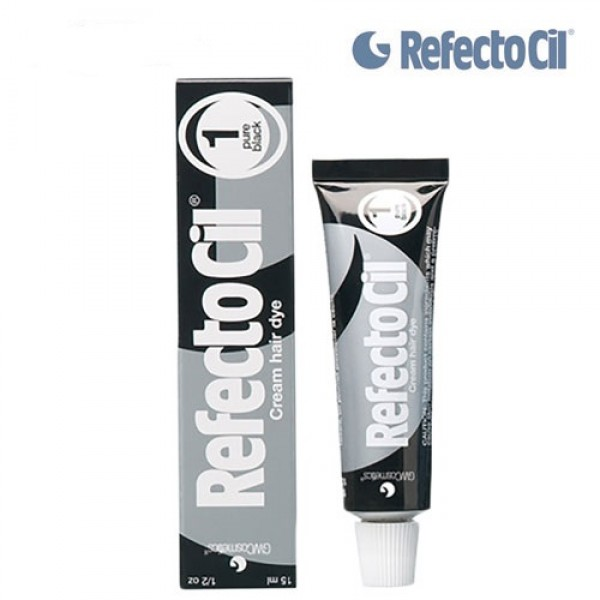 1. REFECTOCIL PAINT FOR EYEBROWS AND EYELASHES (BLACK) TINT, 15 ML